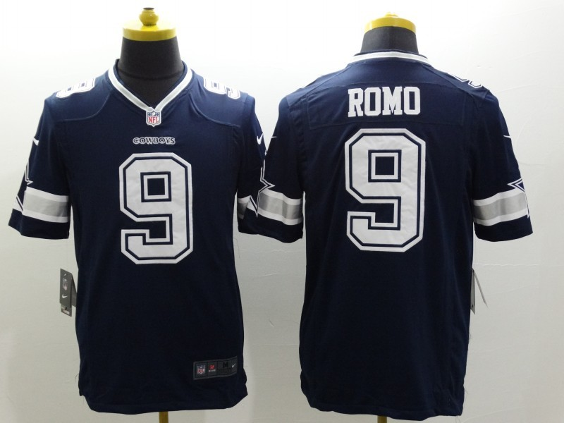 Dallas Cowboys 9 Romo Blue Nike Limited Jerseys