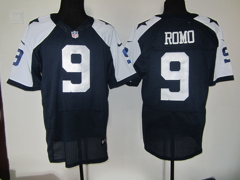 Dallas Cowboys 9 Romo Blue Thanksgiving Nike Elite Jersey