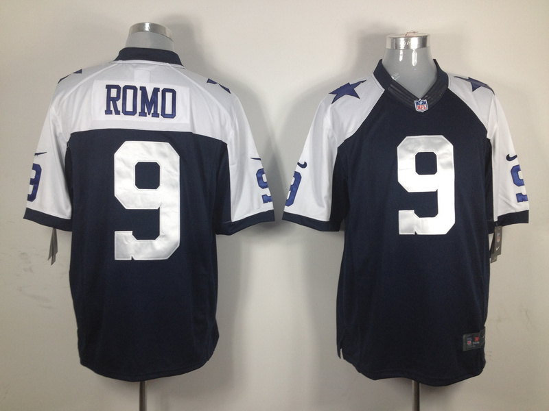 Dallas Cowboys 9 Romo Blue Thanksgiving Nike Game Jersey