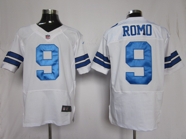 Dallas Cowboys 9 Romo White Nike Elite Jersey