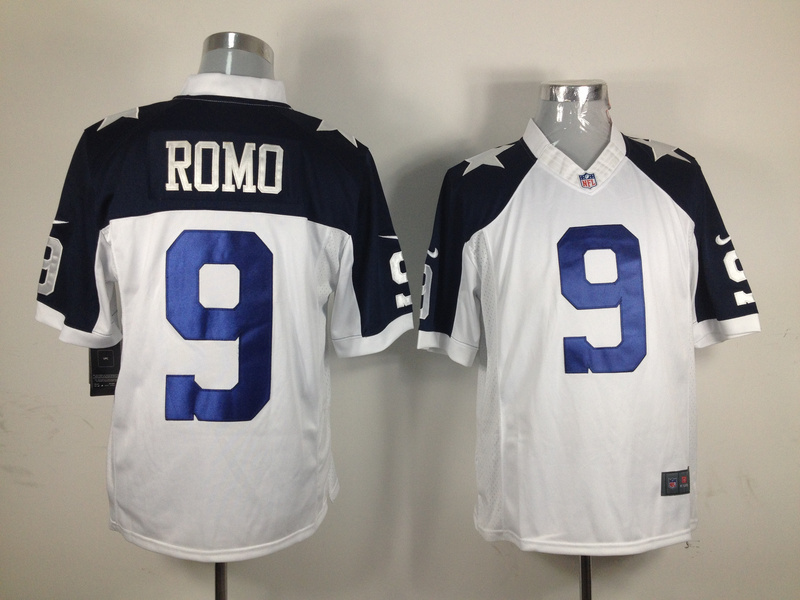 Dallas Cowboys 9 Romo White Thanksgiving Nike Game Jersey
