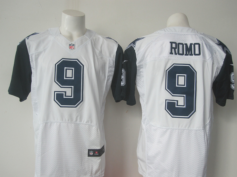 Dallas Cowboys 9 Tony Romo White 2015 Nike Stitched Elite Rush Jersey