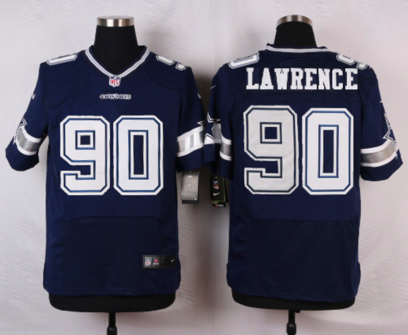 NFL Customize Dallas Cowboys 90 Lawrence Blue Men Nike Elite Jerseys