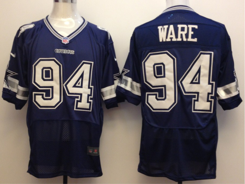 Dallas Cowboys 94 Ware Blue Nike Elite Jersey