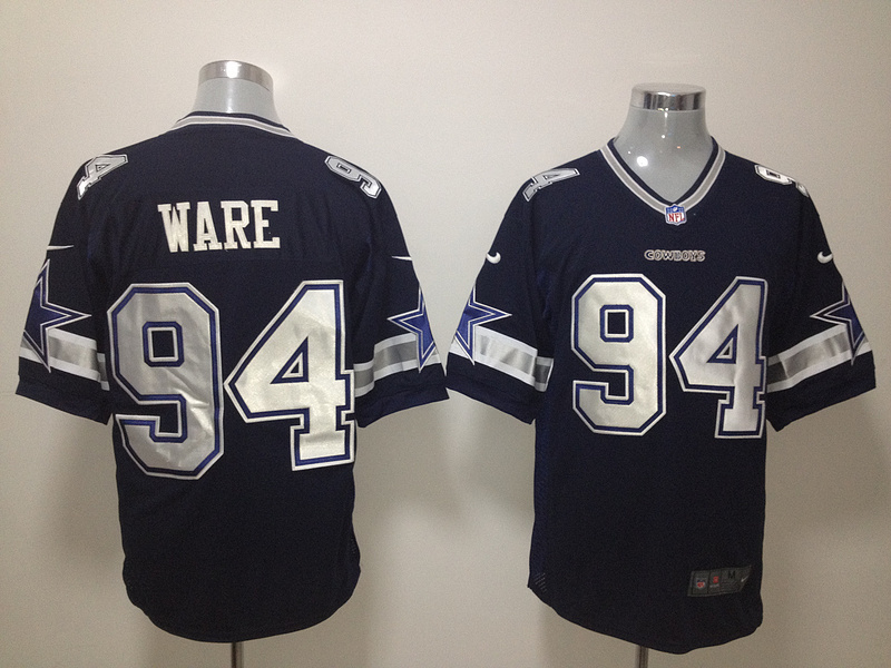 Dallas Cowboys 94 Ware Blue Nike Game Jersey