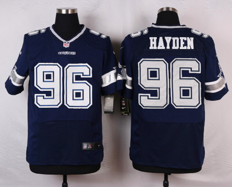 NFL Customize Dallas Cowboys 96 Hayden Blue Men Nike Elite Jerseys
