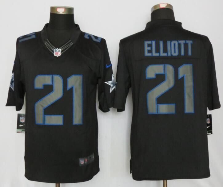 Dallas cowboys 21 Elliott Impact Limited New Nike Black Jerseys