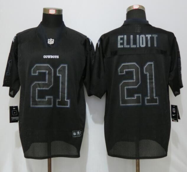 Dallas cowboys 21 Elliott Lights Out Black New Nike Elite Jerseys