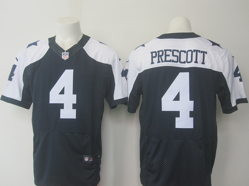 Dallas cowboys 4 Prescott Blue Thanksgiving Nike Elite Jersey