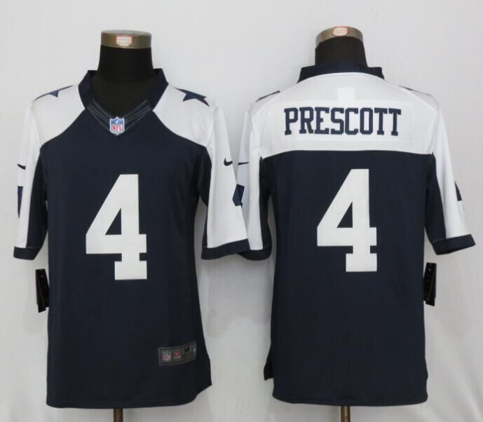 Dallas cowboys 4 Prescott Blue Thanksgiving Nike Limited Jersey