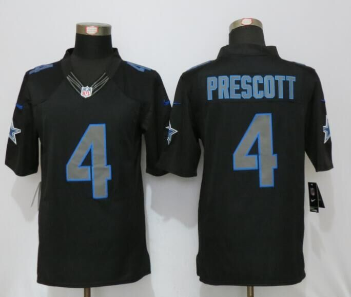 Dallas cowboys 4 Prescott Impact Limited New Nike Black Jerseys