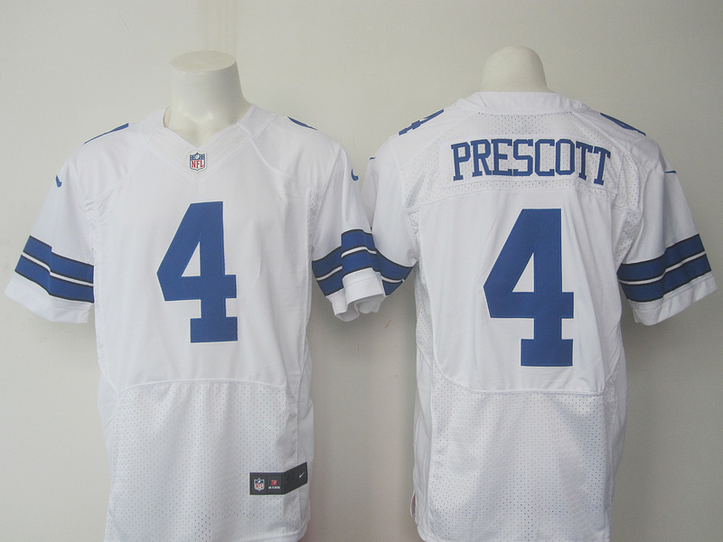 Dallas cowboys 4 Prescott White 2016 Nike Elite Jersey