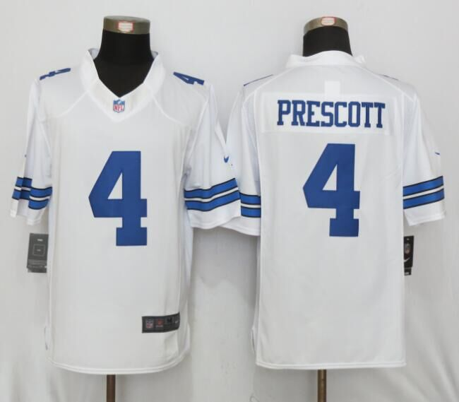 Dallas cowboys 4 Prescott White Nike Limited Jersey