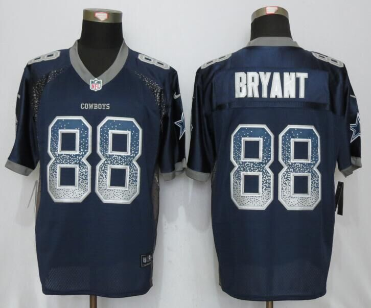 Dallas cowboys 88 Bryant Drift Fashion Blue NEW Nike Elite Jerseys