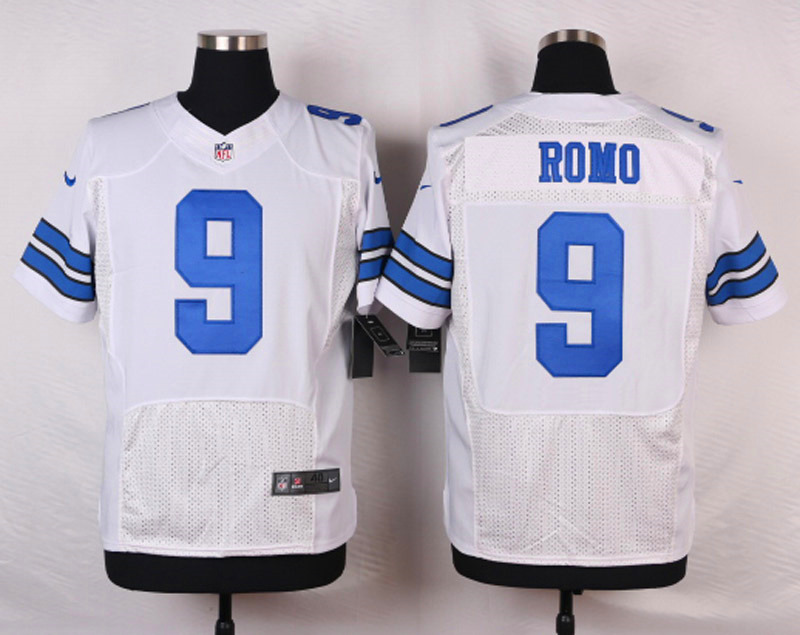 NFL Customize Dallas cowboys 9 Romo White Men Nike Elite Jerseys