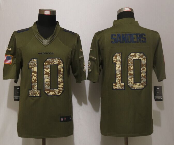 Denver Broncos 10 Sanders Green NEW Nike Salute To Service Limited Jersey