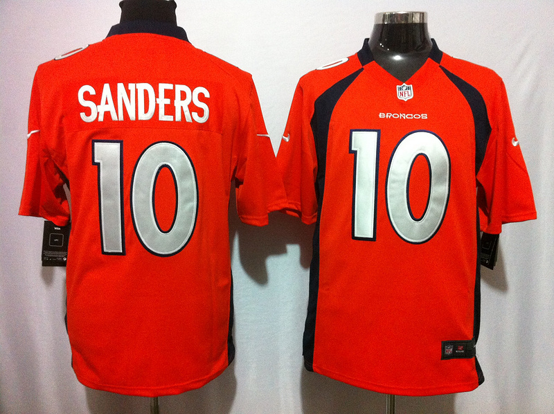Denver Broncos 10 Sanders Orange 2015 Nike NFL Game Jerseys