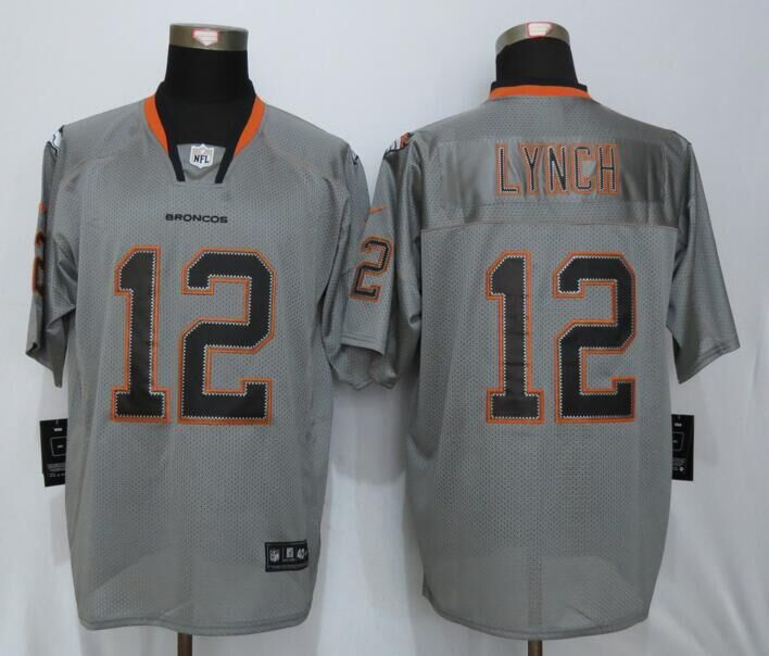 Denver Broncos 12 Lynch Lights Out Gray New Nike Elite Jerseys
