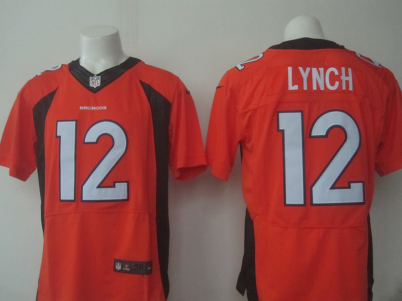 Denver Broncos 12 Lynch Orange 2016 Nike Elite Jerseys
