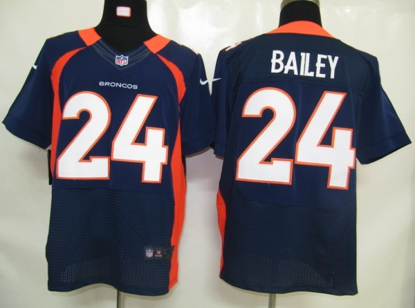 Denver Broncos 24 Bailey Blue Nike Elite Jersey