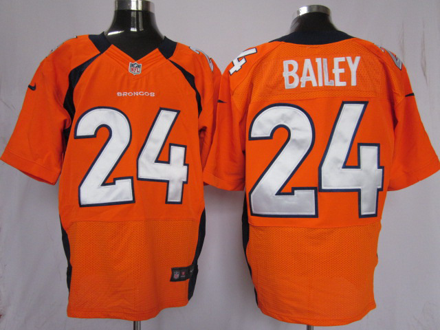 Denver Broncos 24 Bailey Orange Nike Elite Jersey