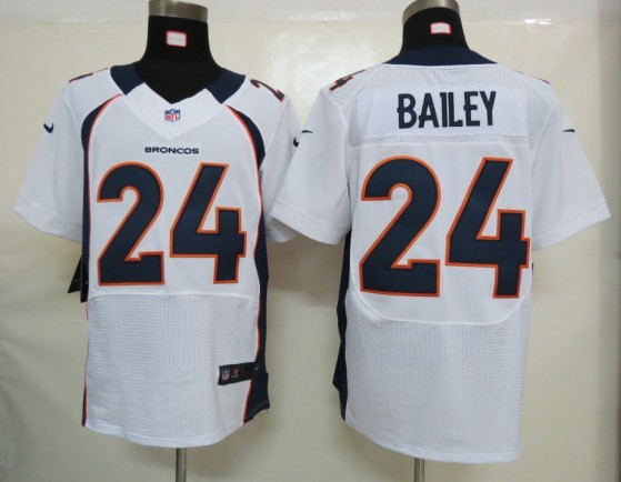 Denver Broncos 24 Bailey White Nike Elite Jersey