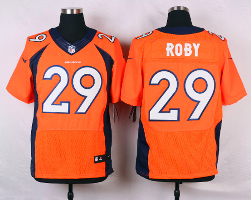 NFL Customize Denver Broncos 29 Roby Orange 2015 Nike Elite jerseys