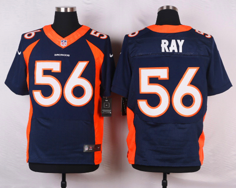 NFL Customize Denver Broncos 56 Ray Blue Men Nike Elite Jerseys