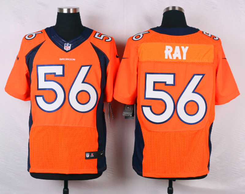 NFL Customize Denver Broncos 56 Ray Orange Men Nike Elite Jerseys