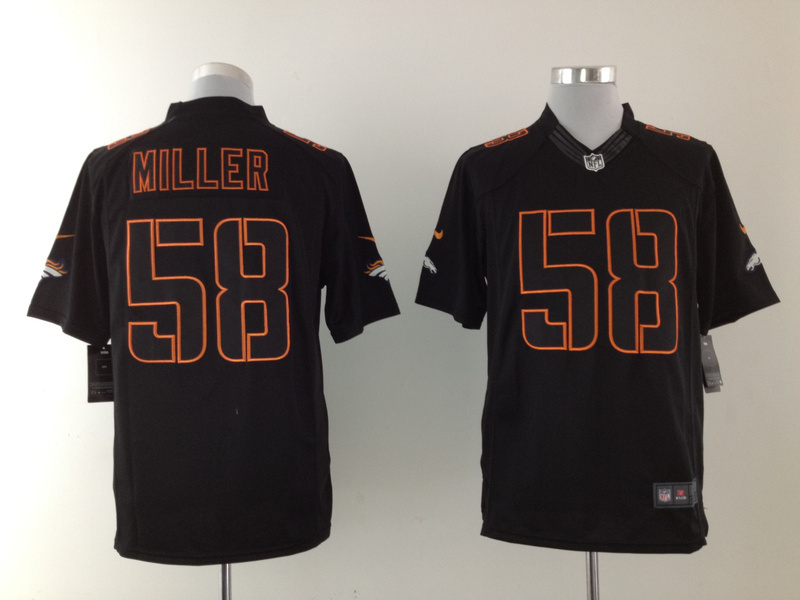 Denver Broncos 58 Miller Black 2015 Nike Game Jerseys