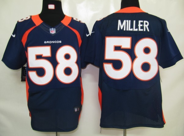 NFL Customize Denver Broncos 58 Miller Blue Nike Elite Jersey