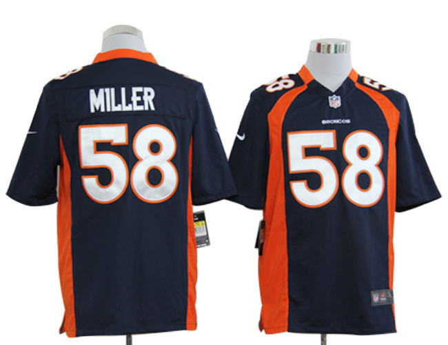 Denver Broncos 58 Miller Blue Nike Game Jerseys