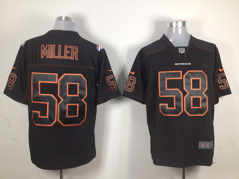 Denver Broncos 58 Miller Nike Black Game Jerseys