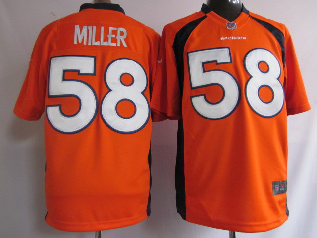 Denver Broncos 58 Miller Orange 2015 Nike Game Jerseys