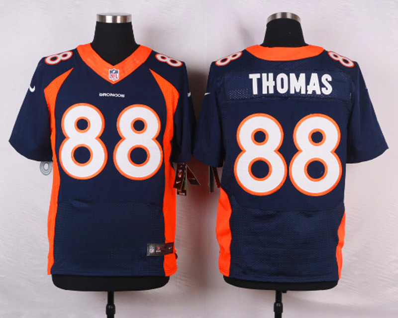 NFL Customize Denver Broncos 88 Demaryius Thomas Blue Men Nike Elite Jerseys