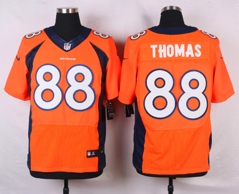 NFL Customize Denver Broncos 88 Demaryius Thomas Orange Men Nike Elite Jerseys