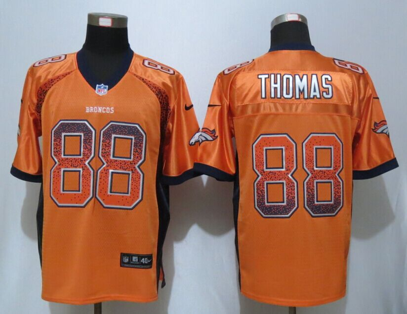 Denver Broncos 88 Thomas Drift Fashion Orange NEW Nike Elite Jersey