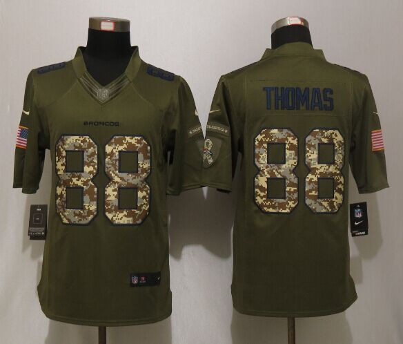 Denver Broncos 88 Thomas Green NEW Nike Salute To Service Limited Jersey