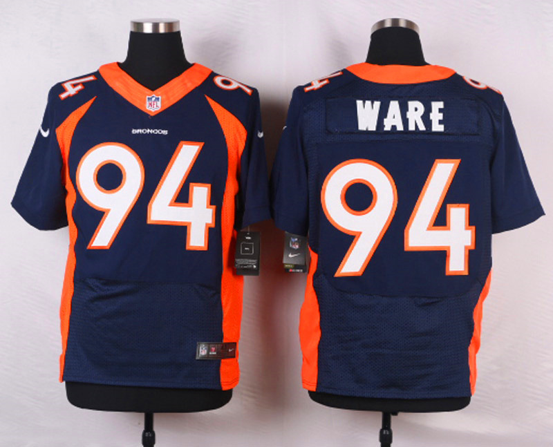 NFL Customize Denver Broncos 94 DeMarcus Ware Blue 2015 Nike elite Jerseys