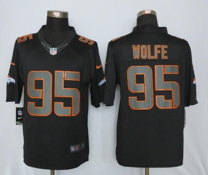 Denver Broncos 95 Wolfe Impact Limited Black New Nike Jerseys