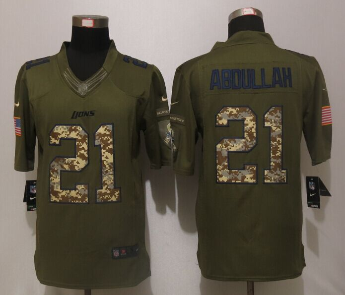 Detroit Lions 21 Abdullah Green Salute To Service New Nike Limited Jersey