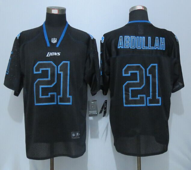Detroit Lions 21 Abdullah Lights Out Black New Nike Elite Jersey