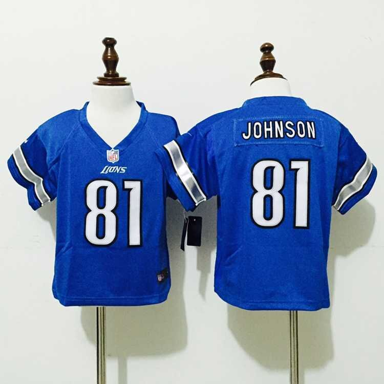 Detroit Lions 81 Johnson Blue Nike baby Jersey