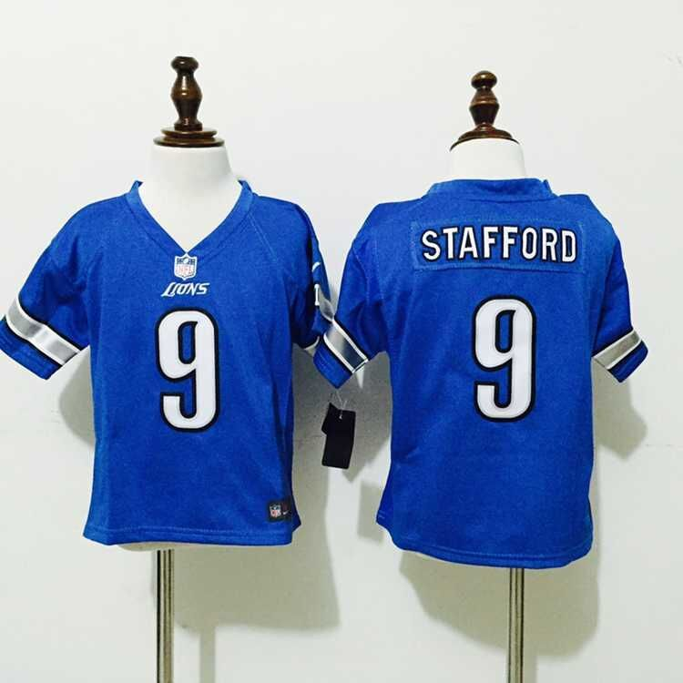 Detroit Lions 9 Stafford Blue Nike baby Jersey