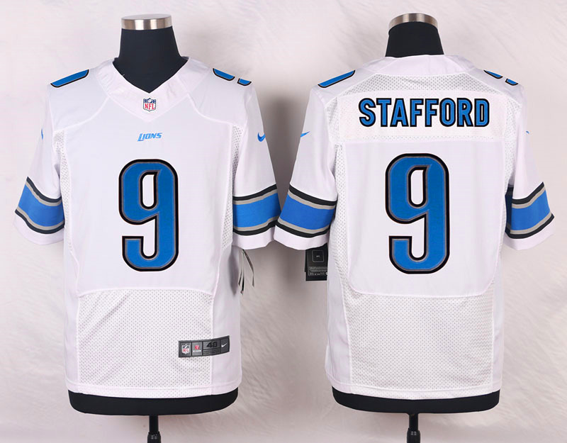 NFL Customize Detroit Lions 9 Stafford White 2015 Nike Elite Jersey