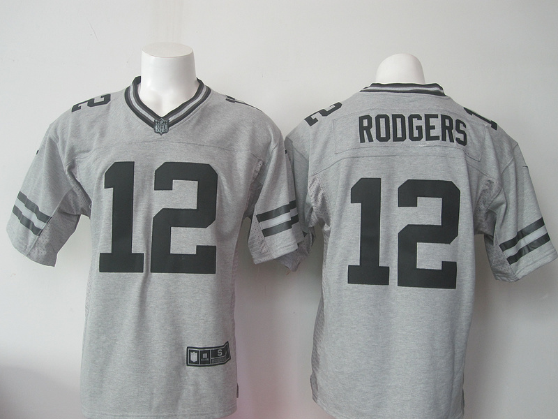 Green Bay Packers 12 Rodgers Gray Gridiron Gray Limited Jersey