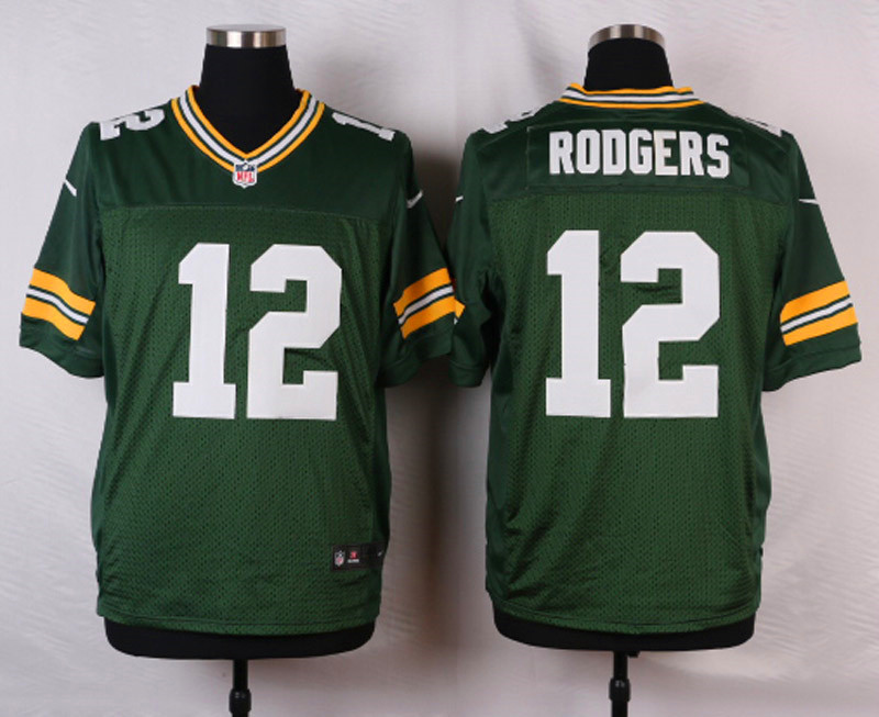 NFL Customize Green Bay Packers 12 rodgers green 2015 Elite nike jerseys
