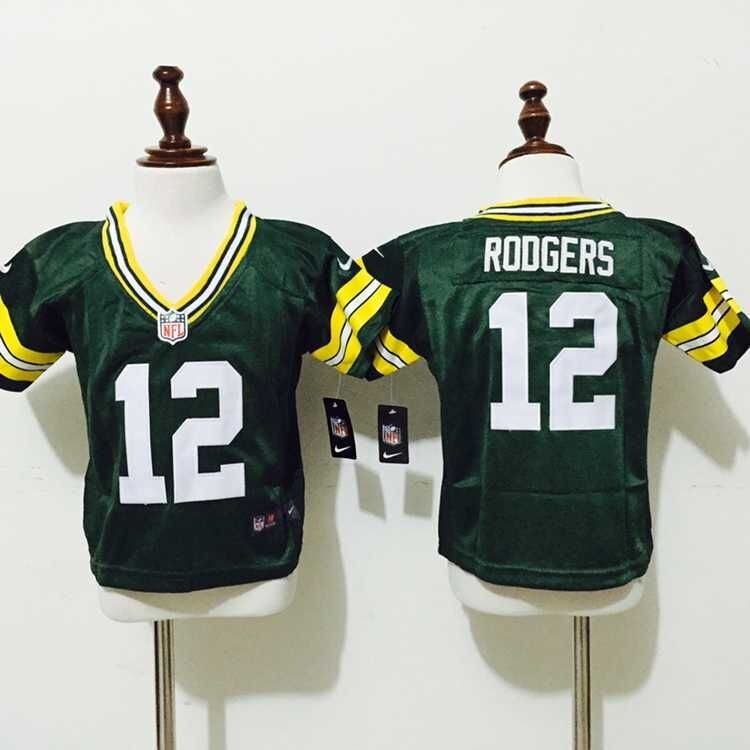 Green Bay Packers 12 rodgers green Baby nike jerseys