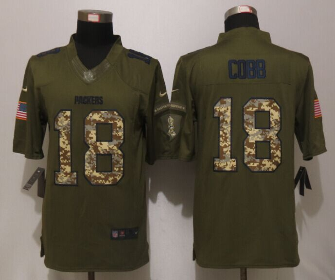 Green Bay Packers 18 Cobb Green Salute To Service New Nike Limited Jersey