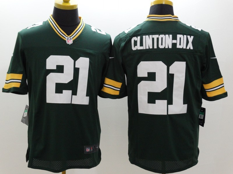 Green Bay Packers 21 Clinton-Dix Green Nike Limited Jerseys